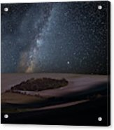 Vibrant Milky Way Composite Image Over Landscape Of Countryside  Acrylic Print