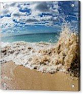 View Of Surf On The Beach, Hawaii, Usa Acrylic Print