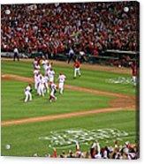 2011 World Series Game 7 - Texas Acrylic Print
