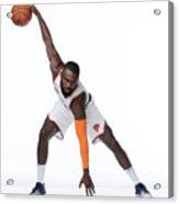 2017-18 New York Knicks Media Day Acrylic Print