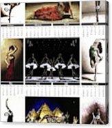 2019 High Resolution R Young Art Dance Calendar - Available Artw Acrylic Print