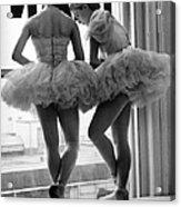 Ballerinas Standing On Window Sill In Acrylic Print