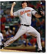 Baltimore Orioles V Texas Rangers Acrylic Print