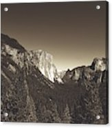 Beautiful Yosemite Valley Acrylic Print