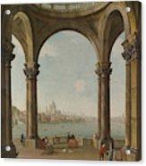 Capriccio With St. Pauls And Old London Bridge Acrylic Print