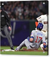 Chicago Cubs V San Francisco Giants 3 Acrylic Print