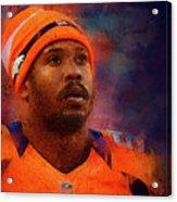 Denver Broncos.von Miller. Acrylic Print
