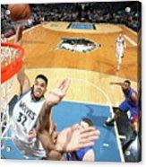 Detroit Pistons V Minnesota Timberwolves Acrylic Print