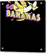 Go Bananas Good Old Times Born In The 90s Retro Rustic Acrylic Print