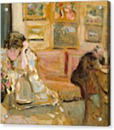 Jos And Lucie Hessel In The Small Salon  Rue De Rivoli  Acrylic Print
