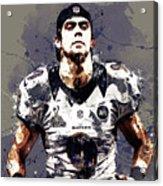 Justin Tucker.baltimore Ravens Acrylic Print