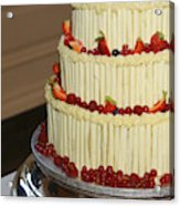 3 Layer Wedding Cake Acrylic Print