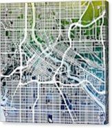 Minneapolis Minnesota City Map Acrylic Print