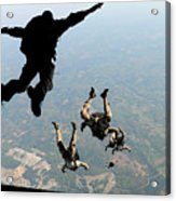 Navy Seals Jump From The Ramp Of A C-17 Acrylic Print