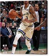 New York Knicks V Milwaukee Bucks Acrylic Print