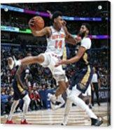 New York Knicks V New Orleans Pelicans Acrylic Print
