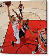 New York Knicks V. Trail Blazers Acrylic Print