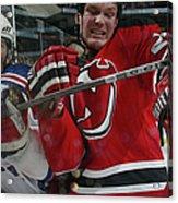 New York Rangers V New Jersey Devils Acrylic Print