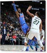 Oklahoma City Thunder V Utah Jazz Acrylic Print