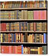 Old Books In A Library Acrylic Print