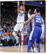 Philadelphia 76ers V Sacramento Kings Acrylic Print