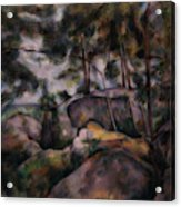 Rocks In The Forest  Acrylic Print