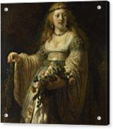 Saskia Van Uylenburgh In Arcadian Costume  Acrylic Print
