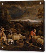 Shepherds And Sheep  Acrylic Print