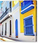 Streets Of San Juan - Puerto Rico Acrylic Print