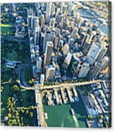 Sydney Downtown - Aerial View Acrylic Print