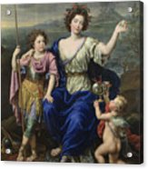 The Marquise De Seignelay And Two Of Her Sons  Acrylic Print