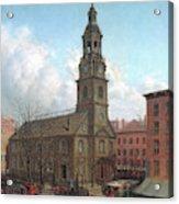 The North Dutch Church  Fulton And William Streets  New York  Acrylic Print
