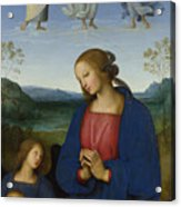The Virgin And Child With An Angel  Acrylic Print
