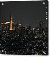 Tokyo Tower And Tokyo Skytree Acrylic Print