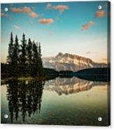 Two Jack Lake And Mount Rundle Acrylic Print