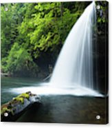 Waterfall In A Forest, Samuel H Acrylic Print