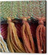 Wool Textile Background Acrylic Print