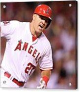 Boston Red Sox V Los Angeles Angels Of 4 Acrylic Print