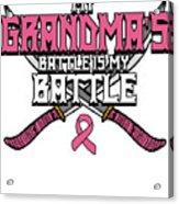 Breast Cancer Awareness Art For Warrior Women Light Dark Acrylic Print