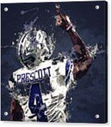 Dallas Cowboys.dak Prescott. Acrylic Print