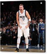 Dallas Mavericks V New York Knicks Acrylic Print