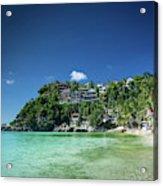 Diniwid Resort Beach View In Tropical Paradise Boracay Island Ph Acrylic Print