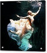 Female Dancer Performing Under Water Acrylic Print