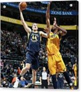 Indiana Pacers V Utah Jazz Acrylic Print