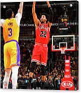 Los Angeles Lakers V Chicago Bulls Acrylic Print