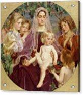 Madonna Of Giverny  Acrylic Print