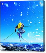 Man Skiing Acrylic Print