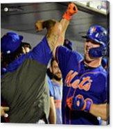 Miami Marlins V New York Mets - Game Two Acrylic Print