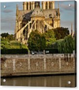 Morning Light On Cathedral Notre Dame Acrylic Print