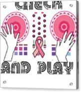 Naughty Breast Cancer Awareness Art For Women Light Acrylic Print